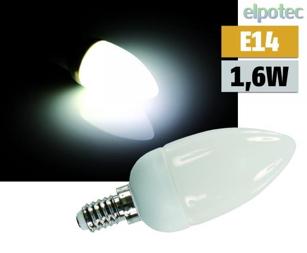 led kerzenlampe e14 1 6w 24 led 180 wei elpotec. Black Bedroom Furniture Sets. Home Design Ideas